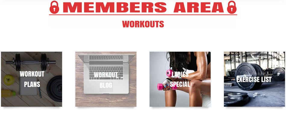 Preview of Members Area for The Optimal You - Workouts