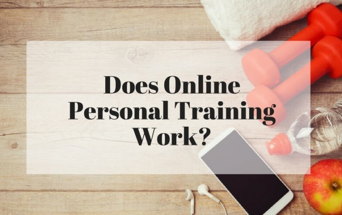 Does online personal training work?