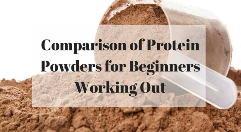 Comparison of protein powders for beginners working out