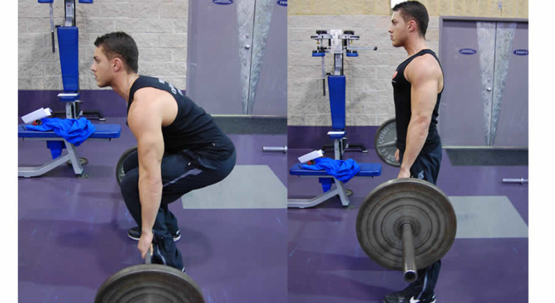 Deadlift Performed by Male Personal Trainer