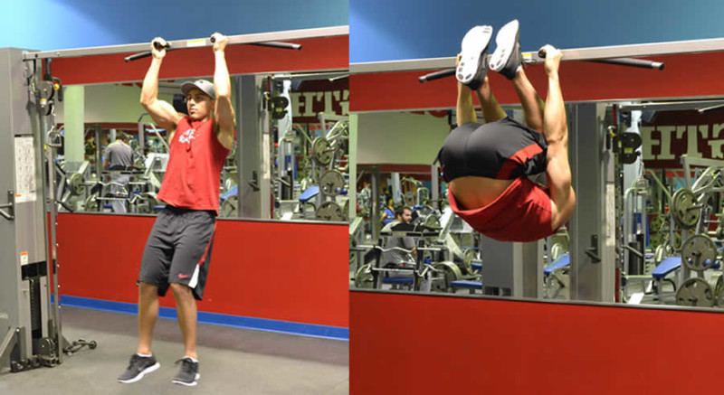 Hanging Leg Lifts Male Online Personal Training