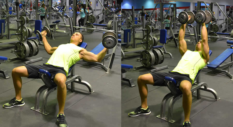 Incline Dumbbell Fly Performed by Male Personal Trainer