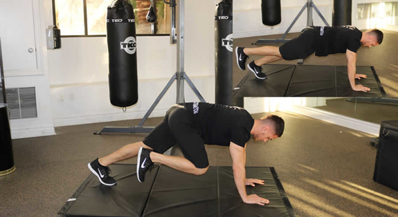 Knee to Chest Male Online Personal Training