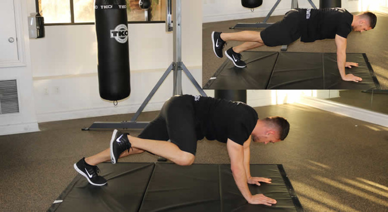 Knee to Elbow Male Online Personal Training