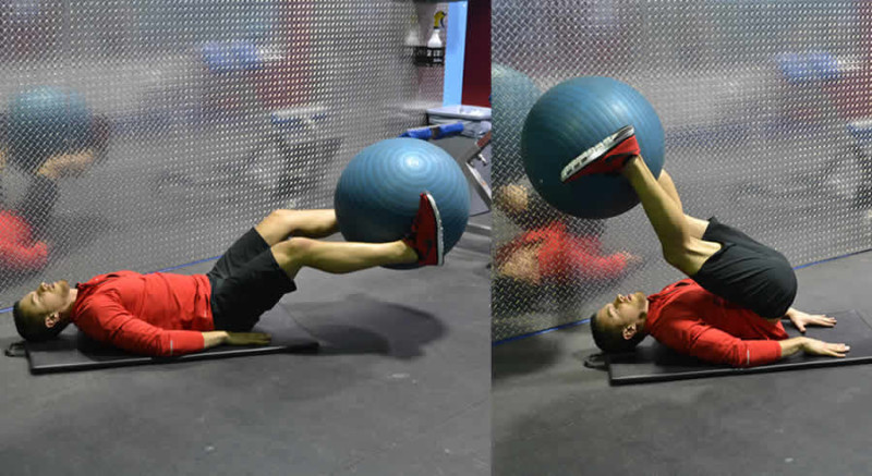 Leg Lifts with Medicine Ball Male Online Personal Training