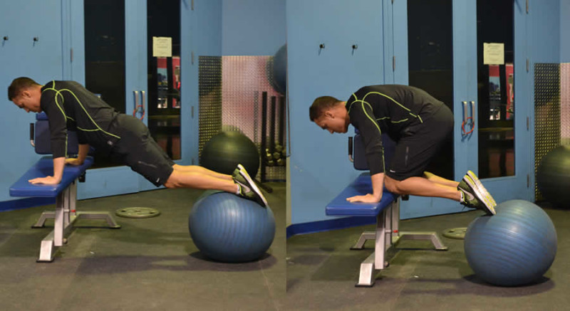Leg Tucks with Medicine Ball Male Online Personal Training