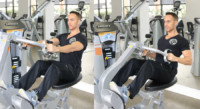 Machine Row Performed by Male Personal Trainer
