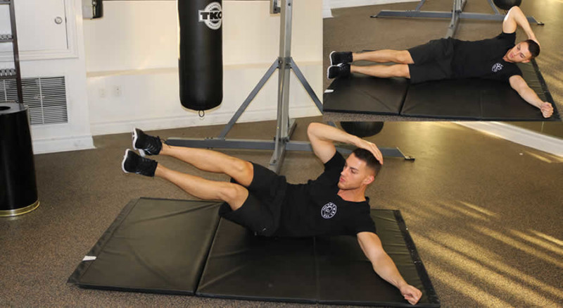 Oblique Crunches Male Online Personal Training