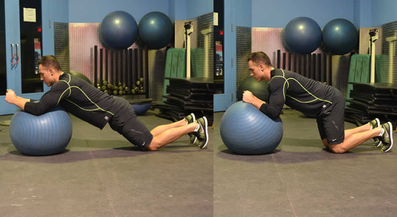 Plank Curnches with Medicine Ball Male Online Personal Training