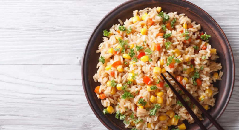 Brown Rice with Vegetables as Recommended by a Holistic Nutiritonist