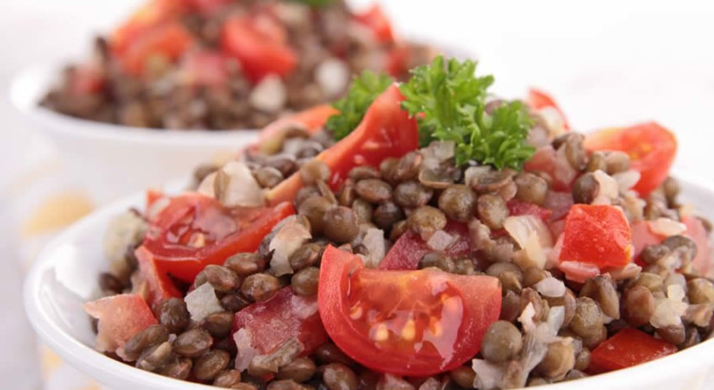 Lentil Tomato Salad as Recommended by a Holistic Nutiritonist