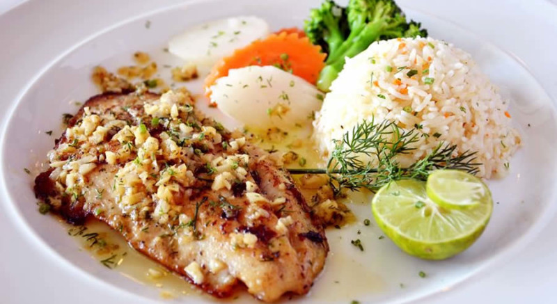 Tilapia brown Rice Veggies as Recommended by a Holistic Nutiritonist