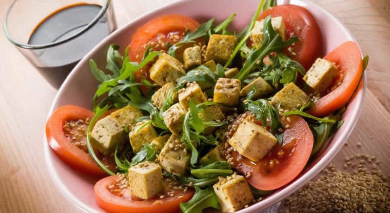 Tomato Tofu Salad as Recommended by a Holistic Nutiritonist