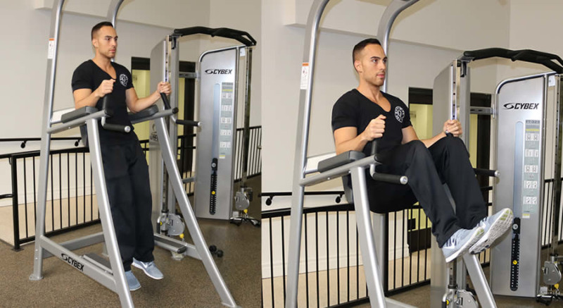 Roman Chair Leg LIft as Performed by Male Personal Trainer