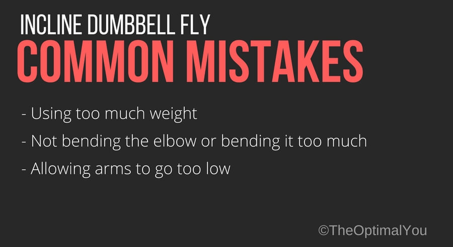 Common mistakes for the incline dumbbell fly exercise