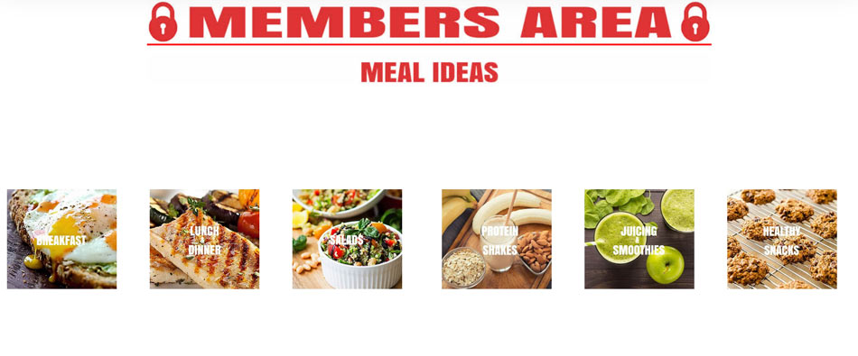 Preview of Members Area for The Optimal You - Meal Ideas