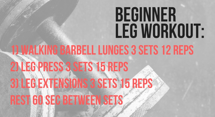 A leg workout plan for beginners for working out for muscle gain