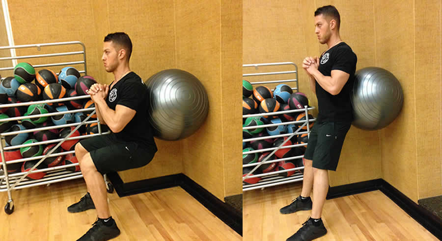 Ball Wall Squats Exercise The Optimal You