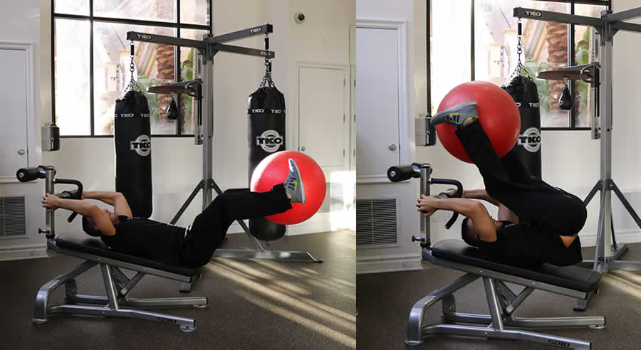 Leg Lift on Incline Bench Exercise - The Optimal You