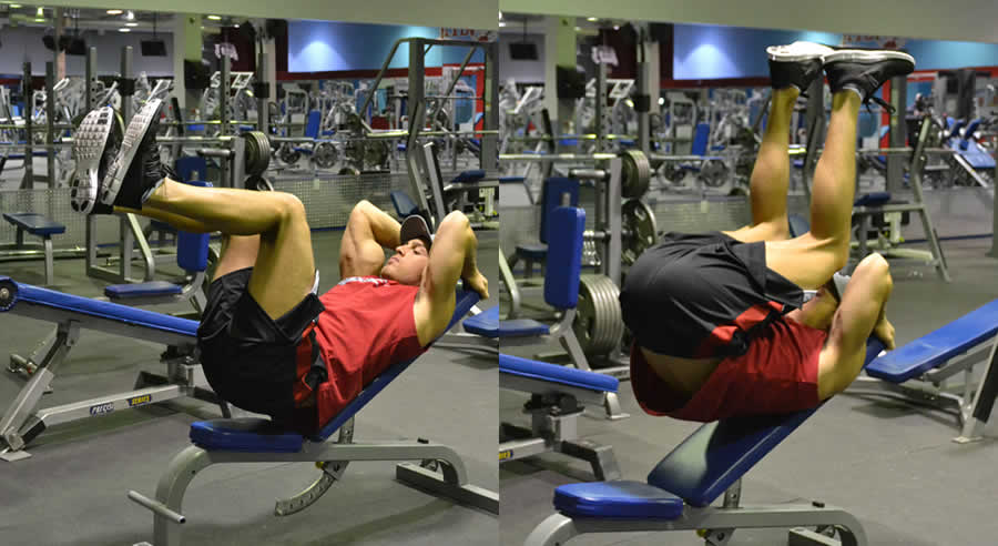 Leg Lift On Incline Bench Exercise The Optimal You