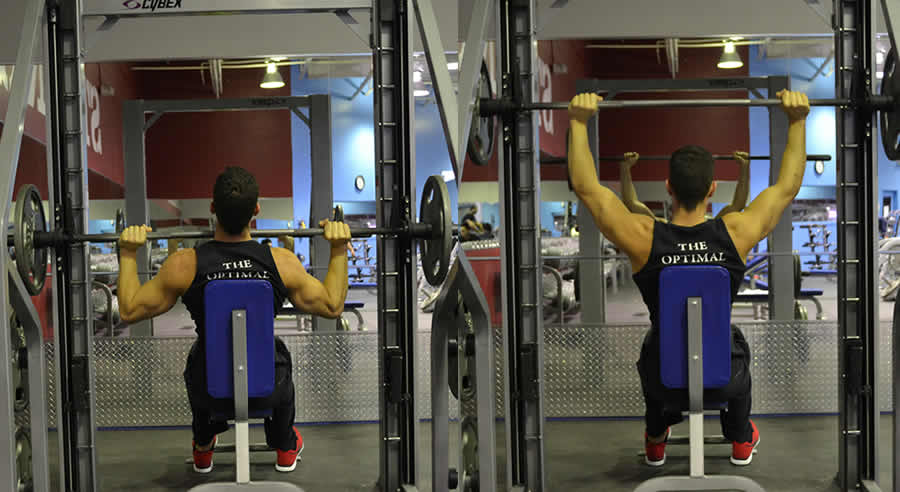Military Press on Smith Machine Exercise - The Optimal You