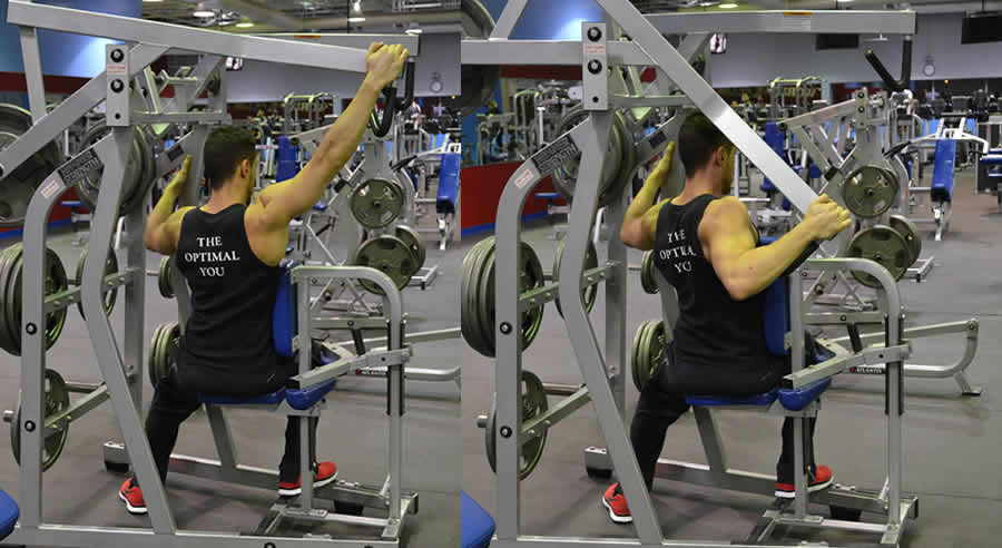 Modified Hammer Strength High Row Exercise The Optimal You