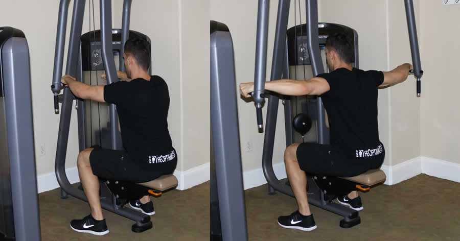 Reverse pec deck the optimal you online personal for Floor underhand cable fly