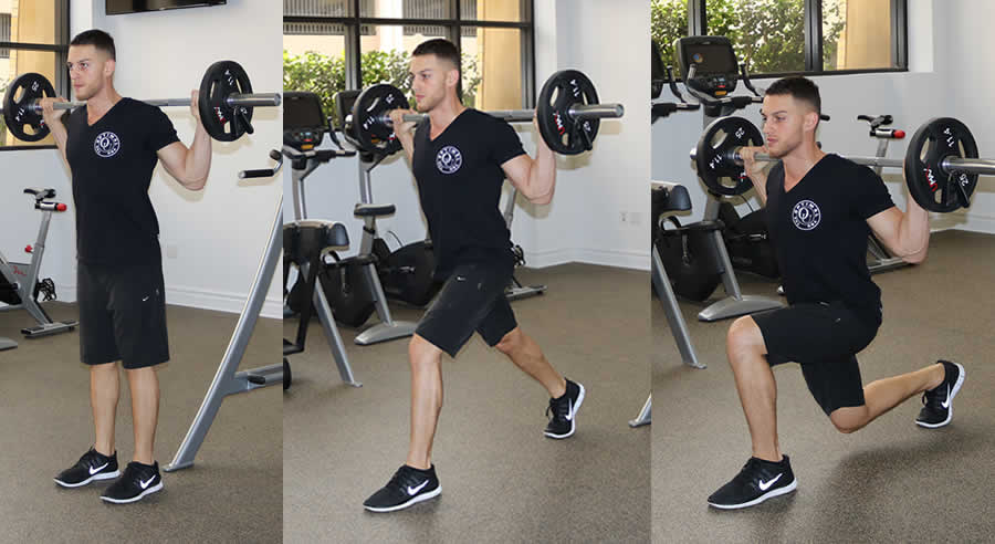 walking barbell lunge the optimal you online personal