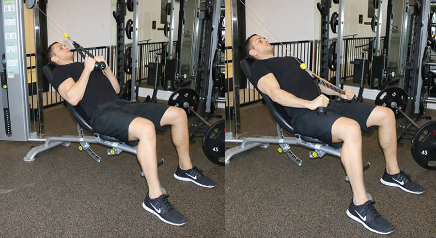 Cable Tricep Extension with Rope on Incline Bench - The ...