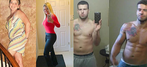 Before and after online personal training workout transformation from The Optimal You - 2nd example